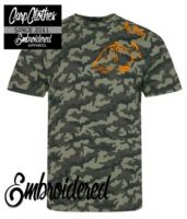 001 EMBROIDERED  CAMO T-SHIRT